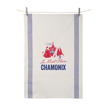 Achat en ligne Torchon Le Mont Blanc Chamonix 55x80 cm 100% coton - Tissage de L´Ouest
