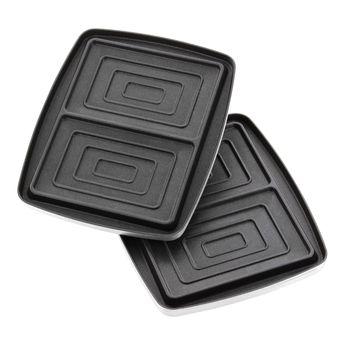 Achat en ligne Accessoire : plaques 2 croque-monsieurs anti-adhérentes pour gaufrier Super 2 - Lagrange