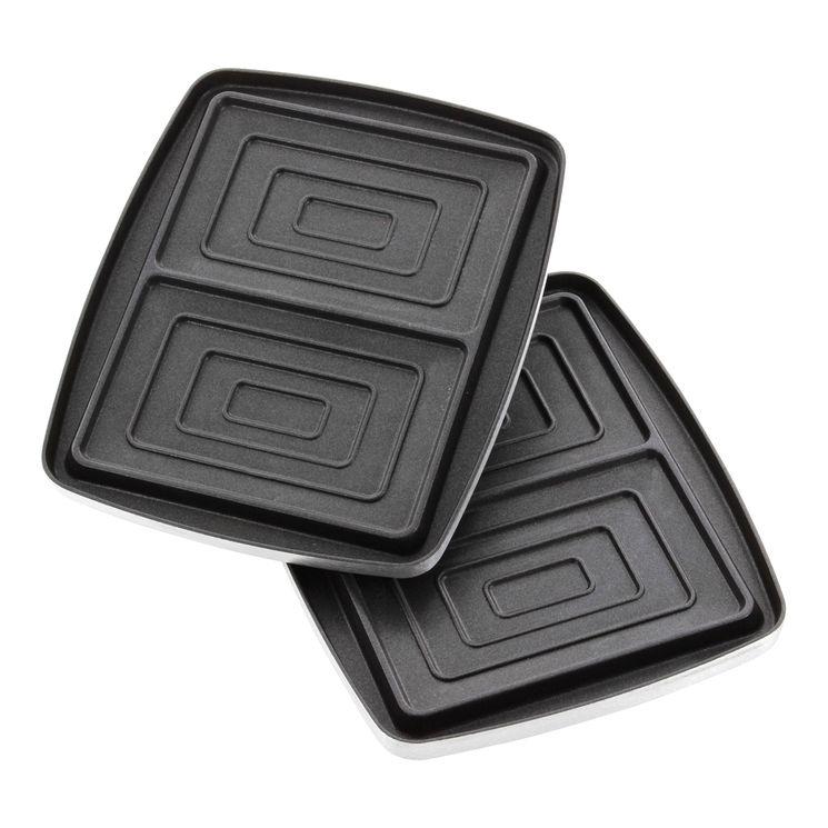 Accessoire : plaques 2 croque-monsieurs anti-adhérentes pour gaufrier Super 2 - Lagrange