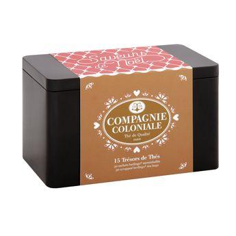 Achat en ligne Coffret 15 Trésors de thés de Noël - Compagnie Coloniale