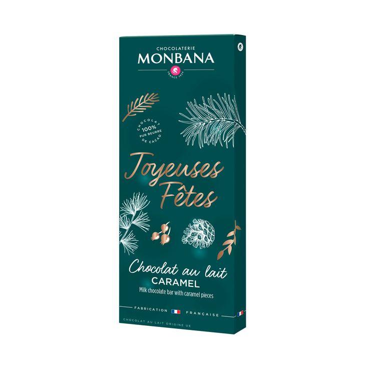 Tablette joyeuses fetes chocolat au lait 100g - Monbana
