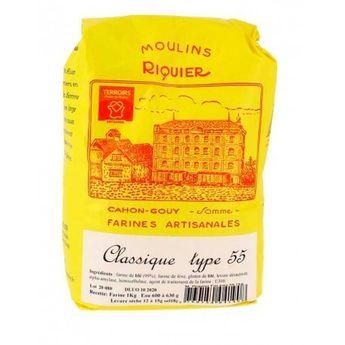 Achat en ligne Farine classique type 55 1 kg - Moulins Riquier