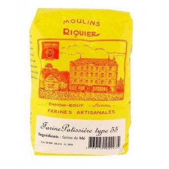 Achat en ligne Farine patissière type 55 1 kg - Moulins Riquier