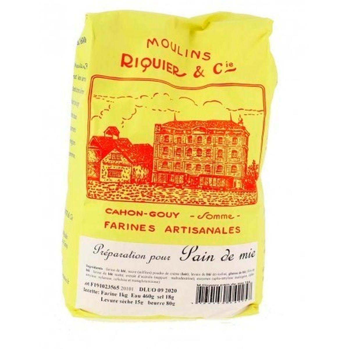 Préparation pour pain de mie 1 kg - Moulins Riquier