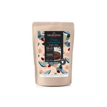 Achat en ligne Perles craquantes mixtes : chocolat noir. lait et blond dulcey 250 gr - Valrhona