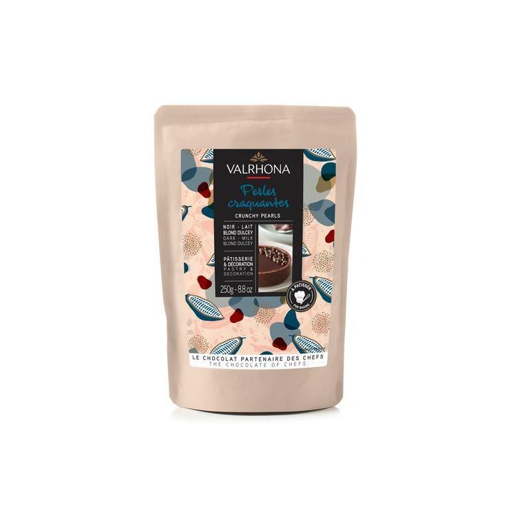 Perles craquantes mixtes : chocolat noir. lait et blond dulcey 250 gr - Valrhona