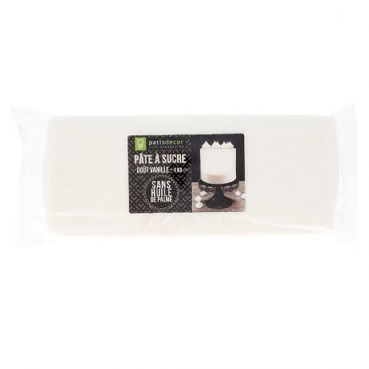 Pâte à sucre blanche arôme vanille 1KG - Patisdécor
