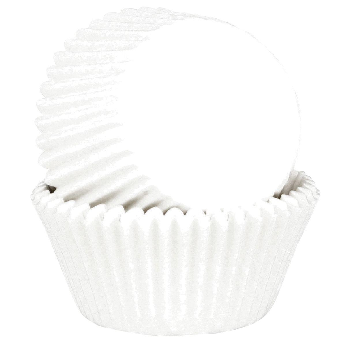 45 mini caissettes à cupcakes et muffins en papier blanc 5.5 cm - Chevalier Diffusion