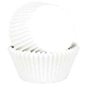Achat en ligne 45 mini caissettes à cupcakes et muffins en papier blanc 7.5 x 3.5 cm - Chevalier Diffusion