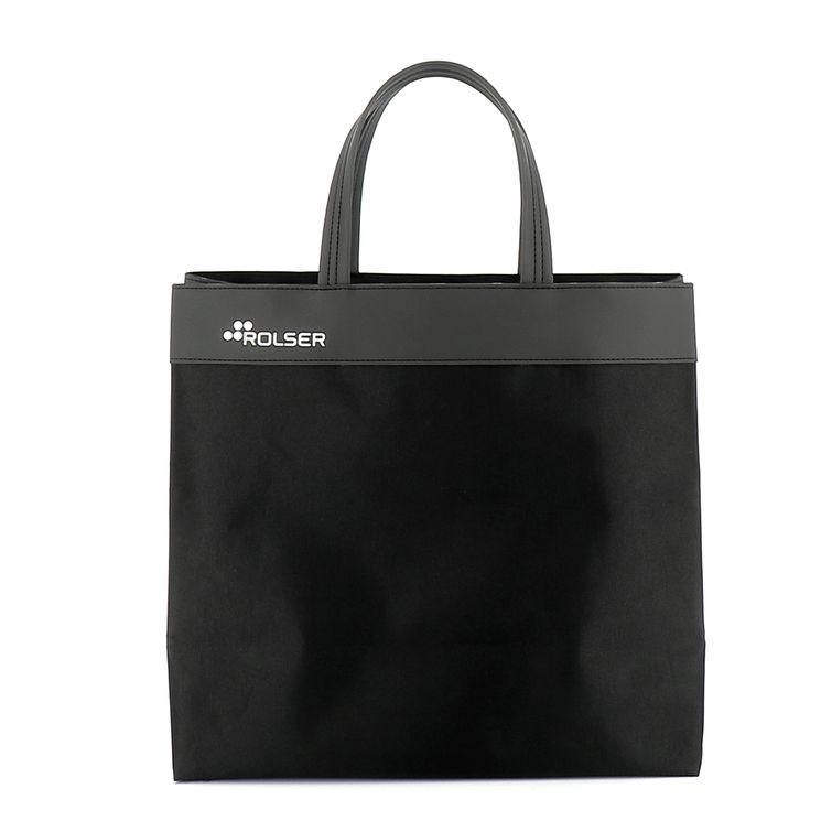 Sac de course en polyester noir 33cmx14cmx38cm - Rolser