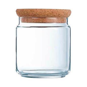 Achat en ligne Bocal en verre avec couvercle liège 1L 10,5x10,5x14cm - Luminarc