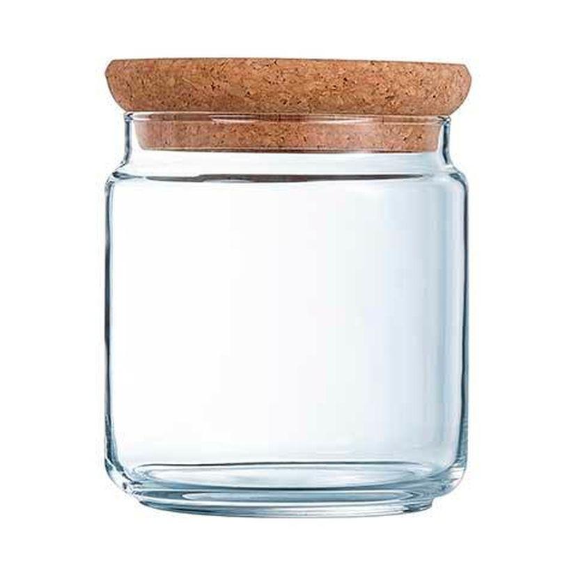 Bocal en verre avec couvercle liège 1L 10,5x10,5x14cm - Luminarc
