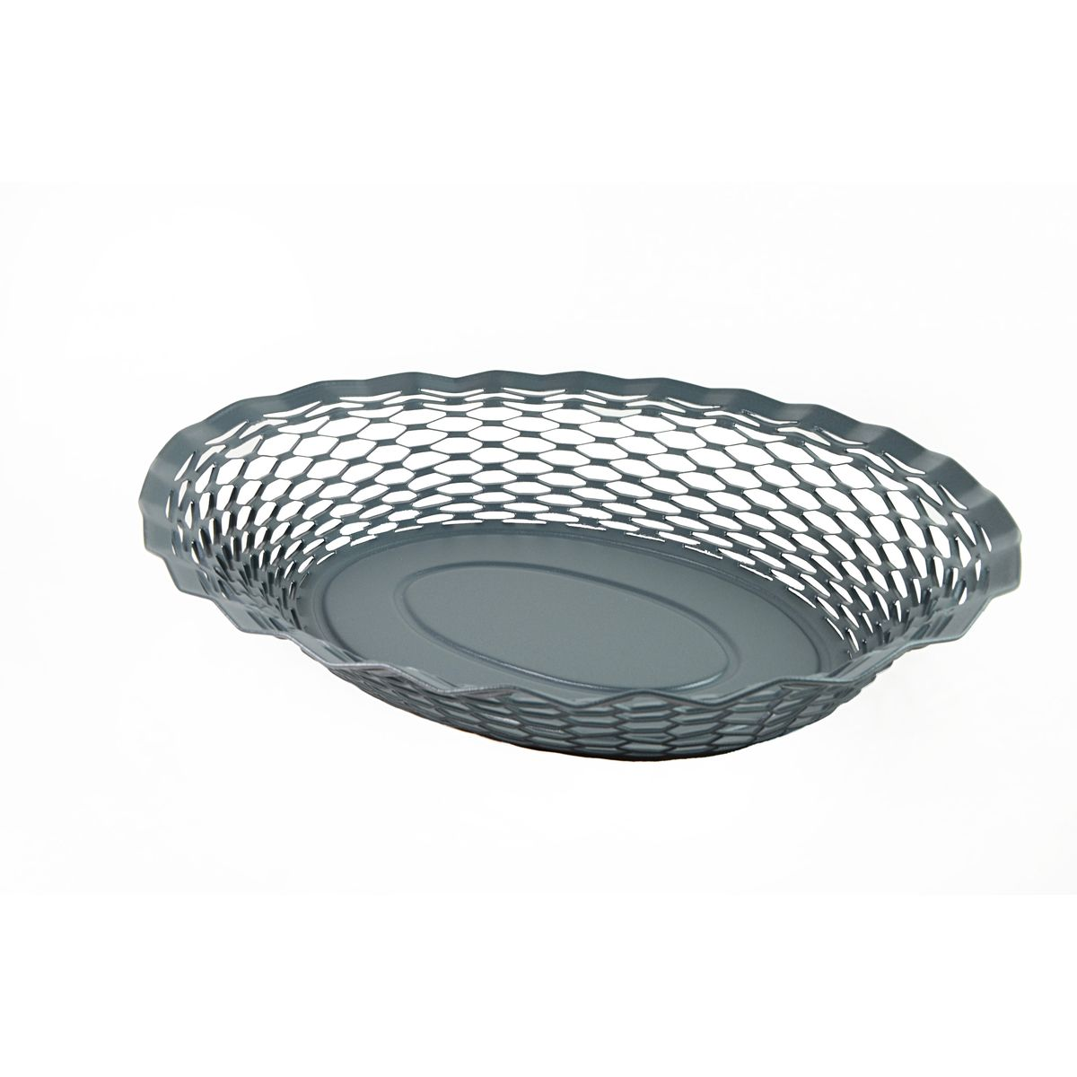 Corbeille à pain en inox gris foncé 24 x 18 cm - Roger Orfevre