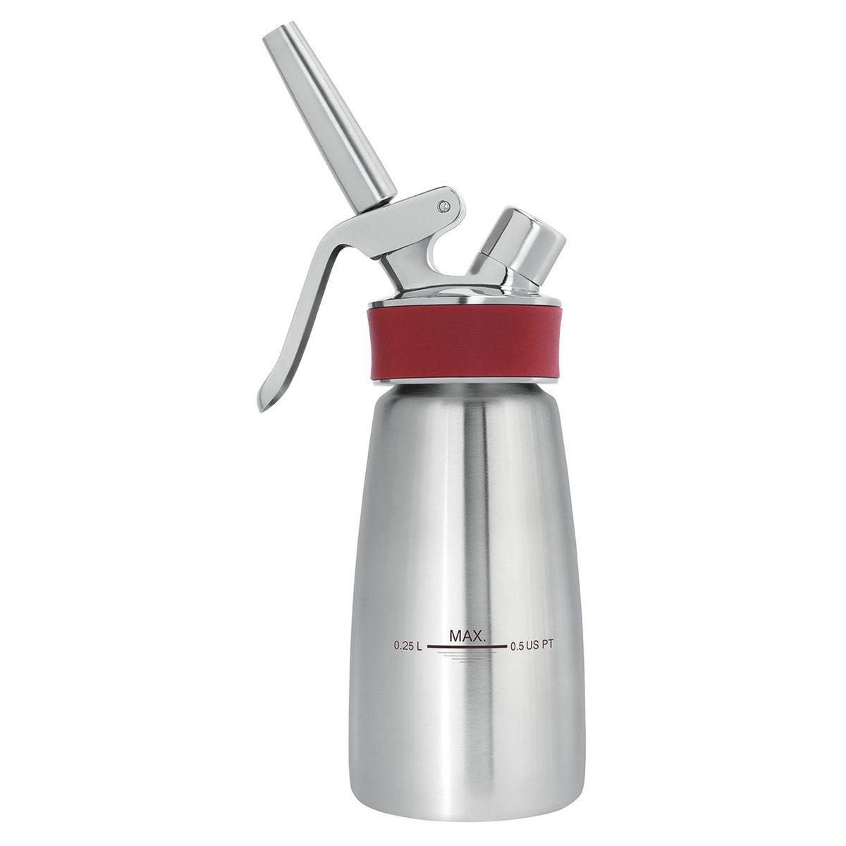 Siphon Gourmet Whip Plus professionnel en inox 0.25 L - Isi