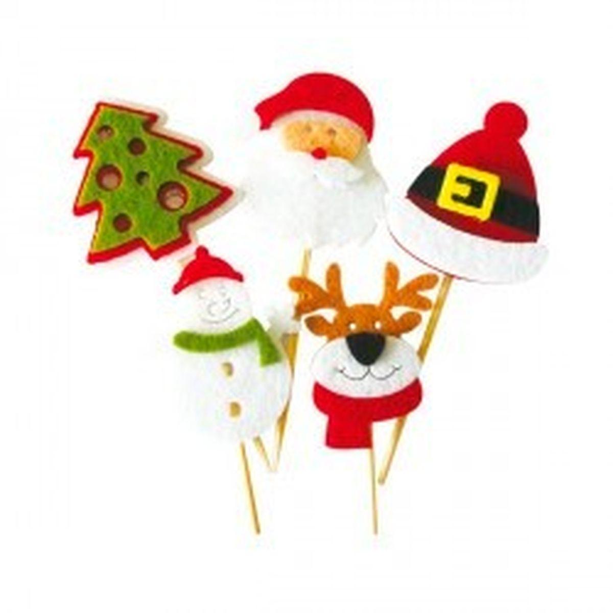 Décor de gâteau : 10 sujets en feutrine pour bûche de Noël - Patisdecor
