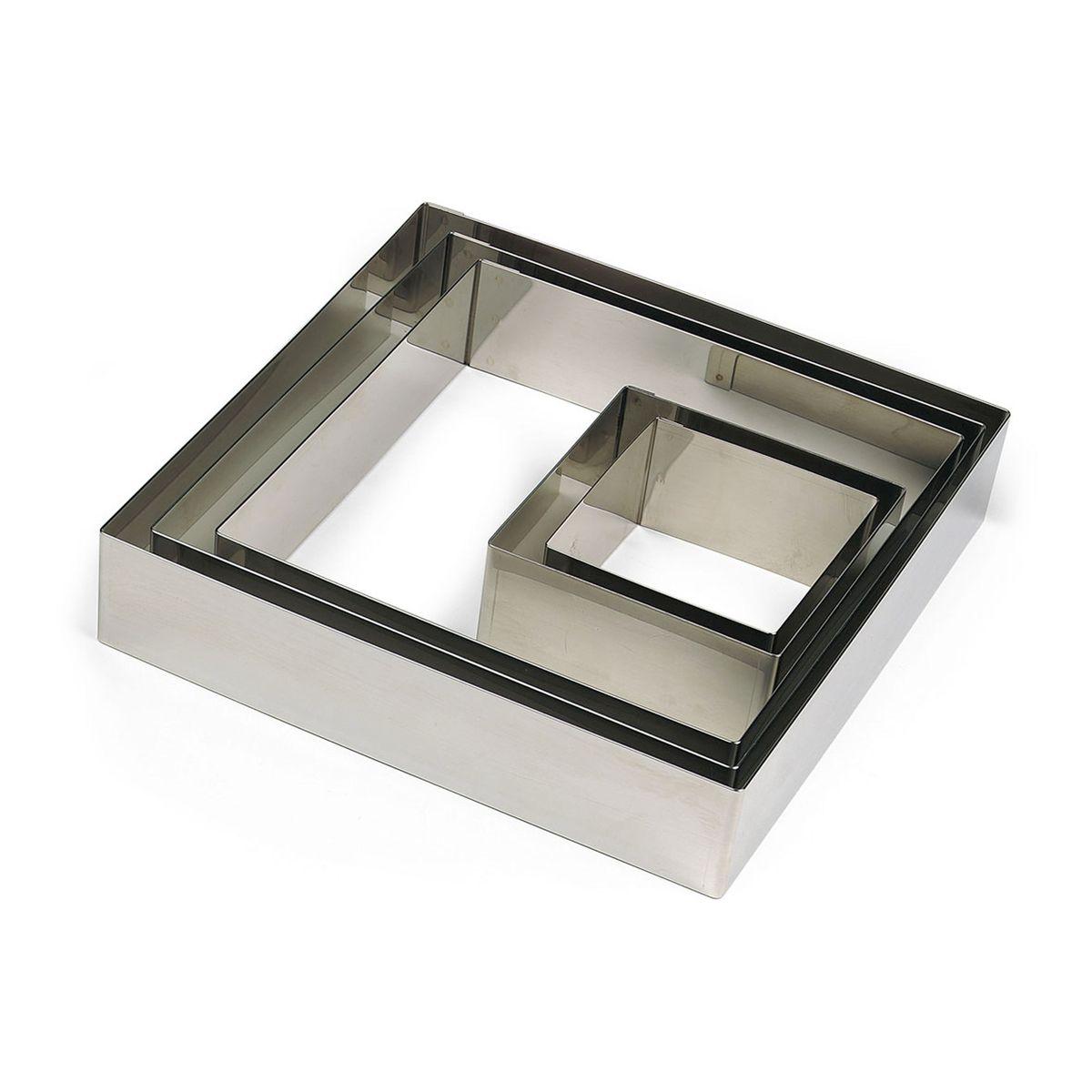 Carré en inox 4.5 x 7 cm - Gobel