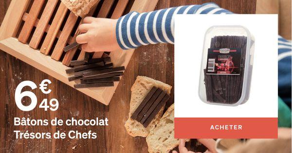 Bâton de chocolat trésor de chef