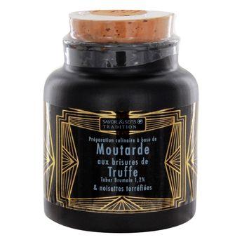 Achat en ligne Moutarde aux brisures de Truffe pot gres 110g - Savor et Sens