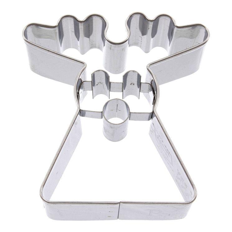 Emporte-pièce en inox renne géométrique Noël 6 cm - Birkmann