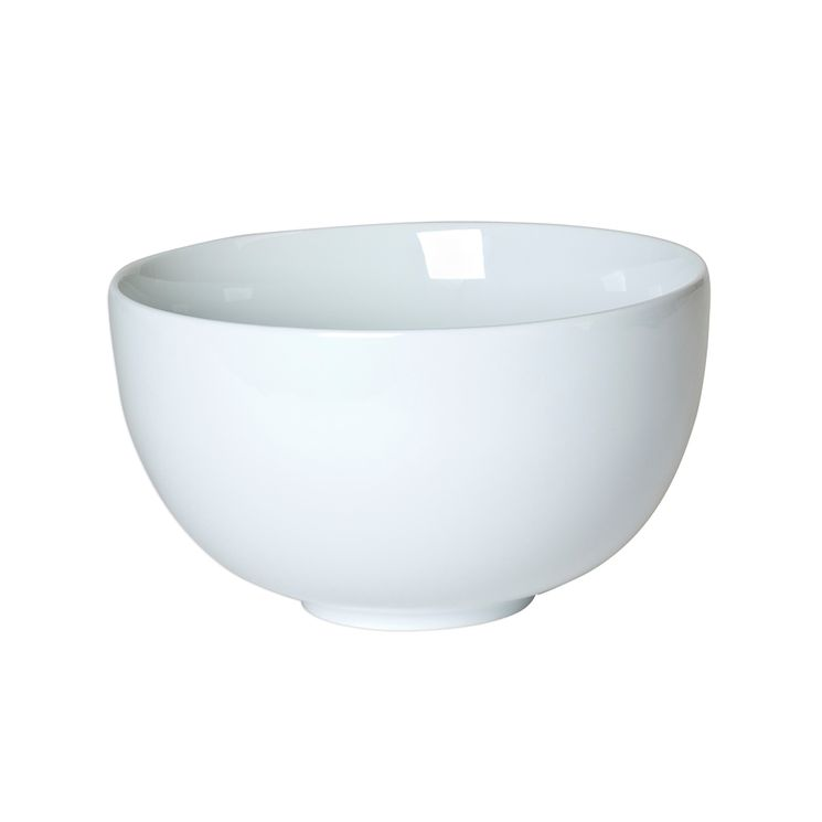 Saladier en porcelaine blanche 23 cm forme boule - Table Passion