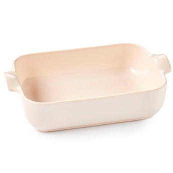 Achat en ligne Plat à four rectangulaire avec anses en céramique ivoire 40 cm - Esprit de cuisine
