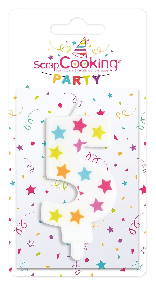 BOUGIE CHIFFRE 5 - SCRAPCOOKING