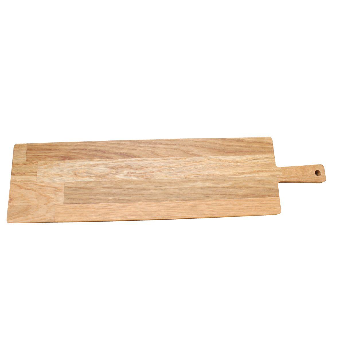 Planche de présentation avec poignée chêne huilé 60 x 15 cm - Roger Orfevre