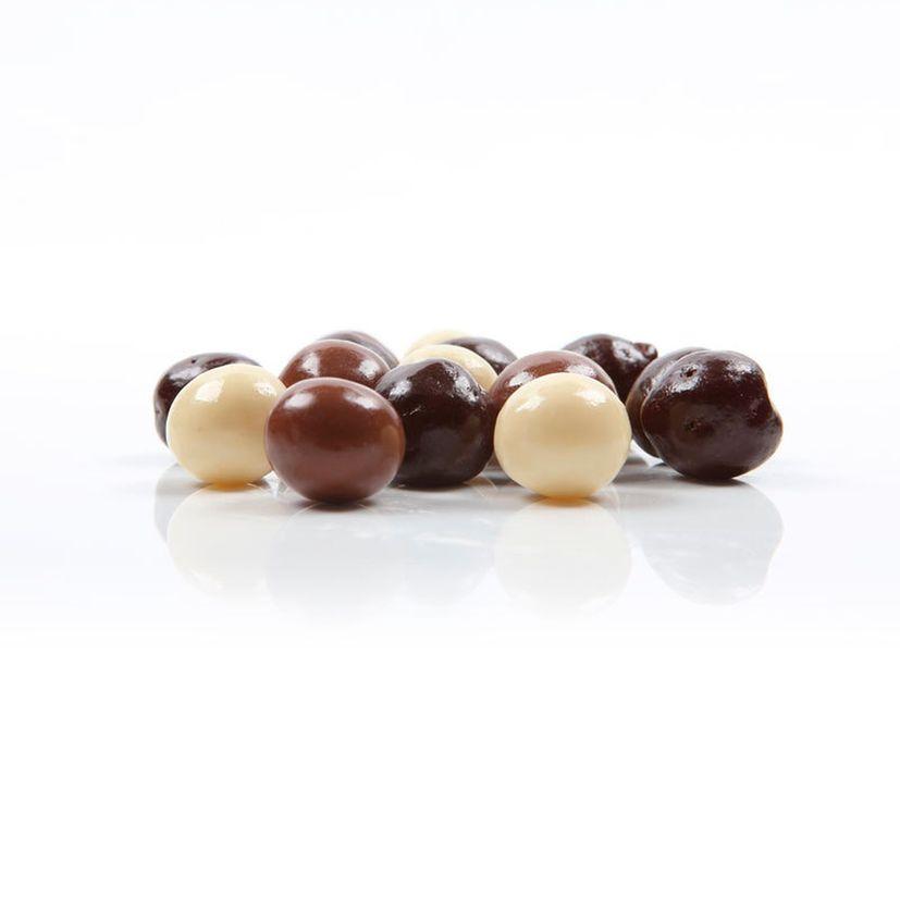 Décor en chocolat : boules en chocolat crispies 100 gr