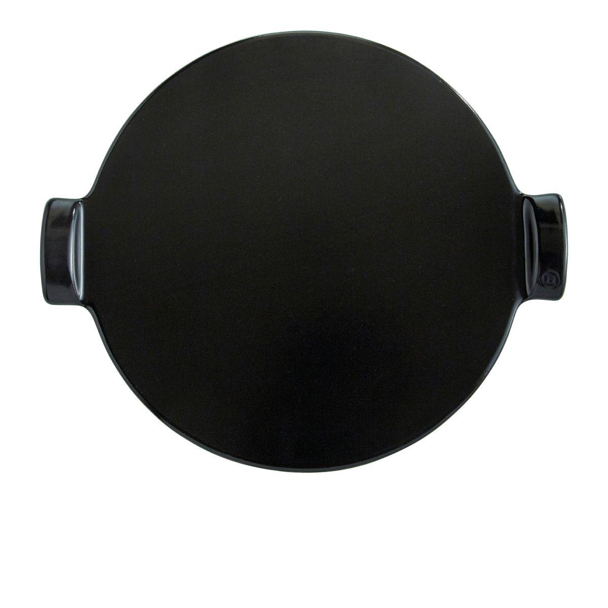 Pizza stone lisse 37 cm noire - Emile Henry