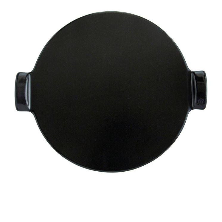 Pierre à pizza stone lisse 37 cm noire - Emile Henry