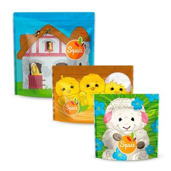 Achat en ligne Lot de 3 sacs à goûter réutilisables - Collection Ferme - Squiz