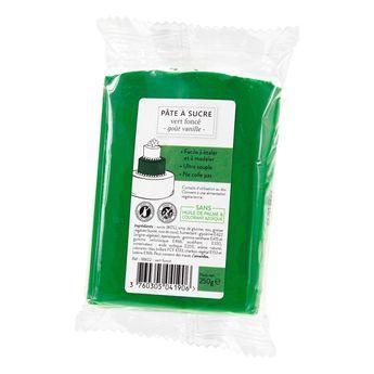 Achat en ligne Pâte à sucre vert foncé 250g sans huile de palme