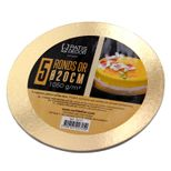 5 supports à gâteaux ronds dorés 20 cm - Gatodeco