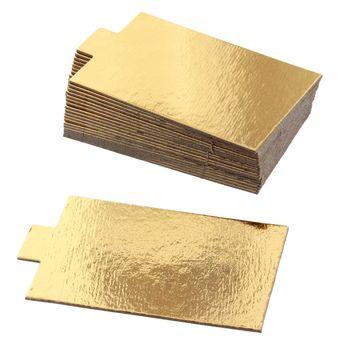 Achat en ligne 20 supports à gâteaux individuels rectangulaires dorés 8 cm - Gatodeco
