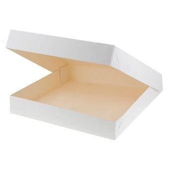 Achat en ligne Boite à gâteaux blanche 31 x 31 x 5 cm - Patisdecor