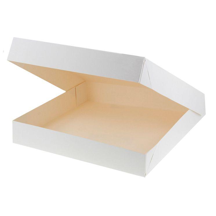 Boîte à gâteaux blanche 31 x 31 x 5 cm - Patisdecor