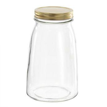 Achat en ligne Bocal en verre couvercle doré 1,5l - Borgonovo