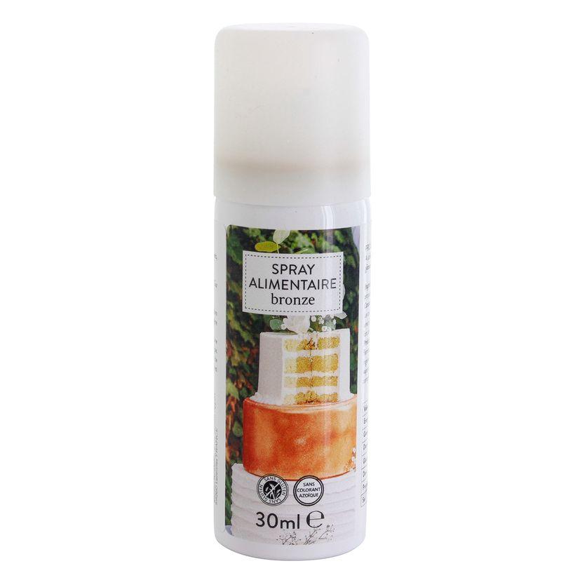 Spray colorant alimentaire bronze 30ml