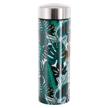 Achat en ligne Théière isotherme en inox feuilles tropicales 350 ml - Yoko design