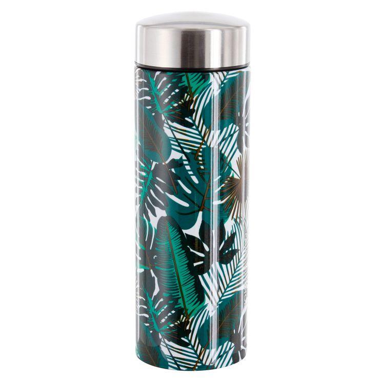 Théière isotherme en inox feuilles tropicales 350 ml - Yoko design
