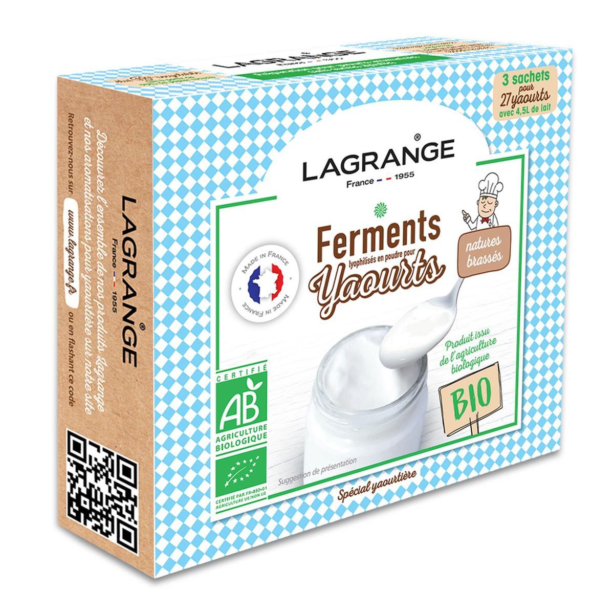 Ferments pour 27 yaourts natures - Lagrange