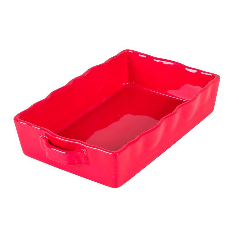 Plat à four en grès rouge rectangulaire 32 x 21 cm - Table Passion