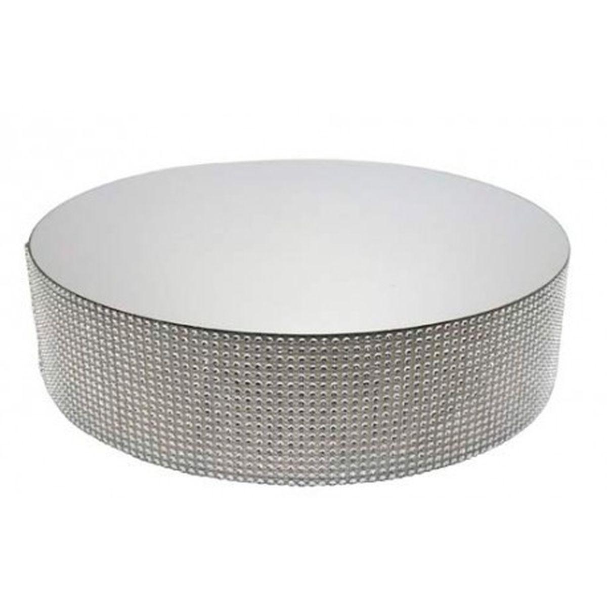 Présentoir miroir contours effet diamants 25 cm - Patisdecor