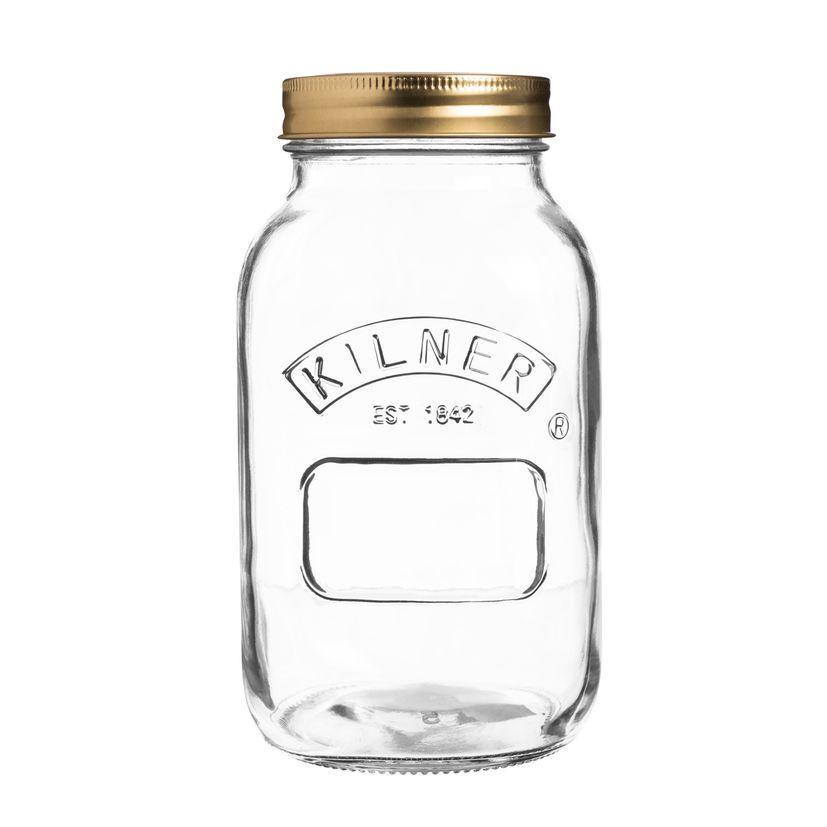 Bocal de conservation à vis en verre 1L - Kilner