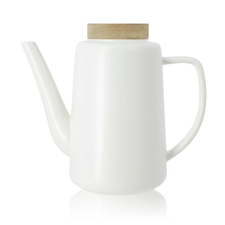 Théière en porcelaine blanche Enzo 1,2L - Ogo
