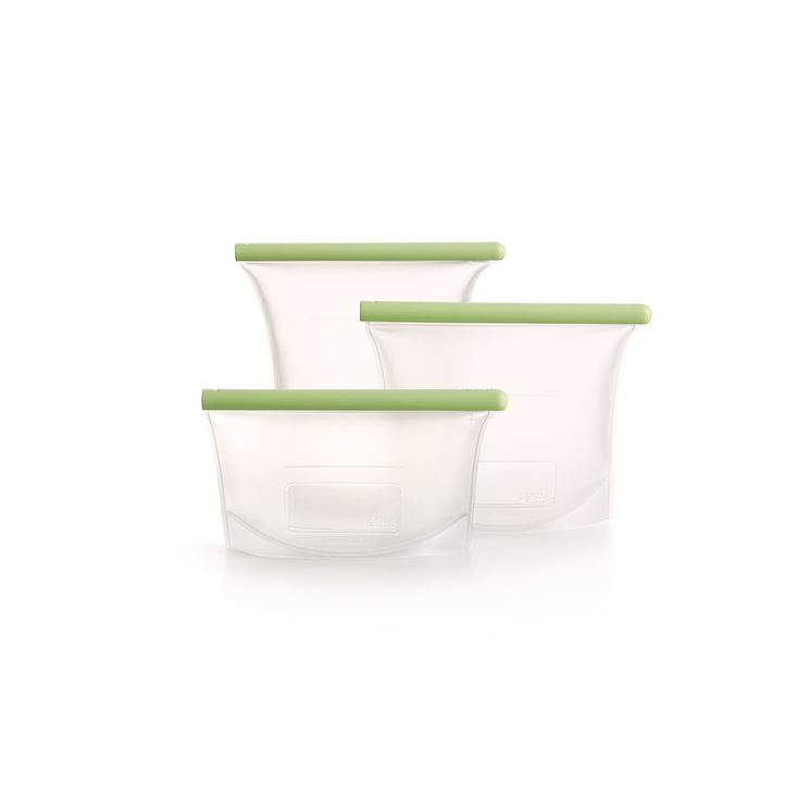 Set de 3 sacs en silicone platinium 0.5 l - 1 l - 1.5 l - Lekue