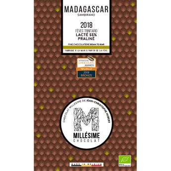 Achat en ligne Chocolat Madagascar Bio Lait praliné 70g - Millésime