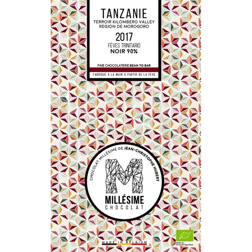 Chocolat Tanzanie Bio Noir 90% 70g - Millésime
