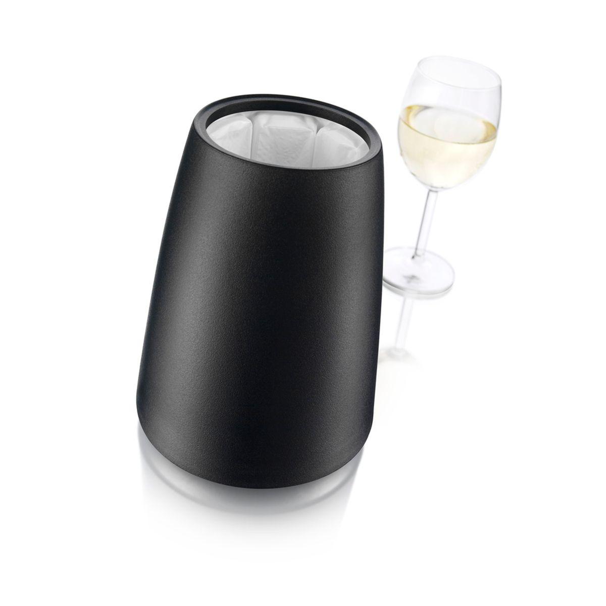 Seau rafraichisseur pour bouteille noir - Vacu Vin