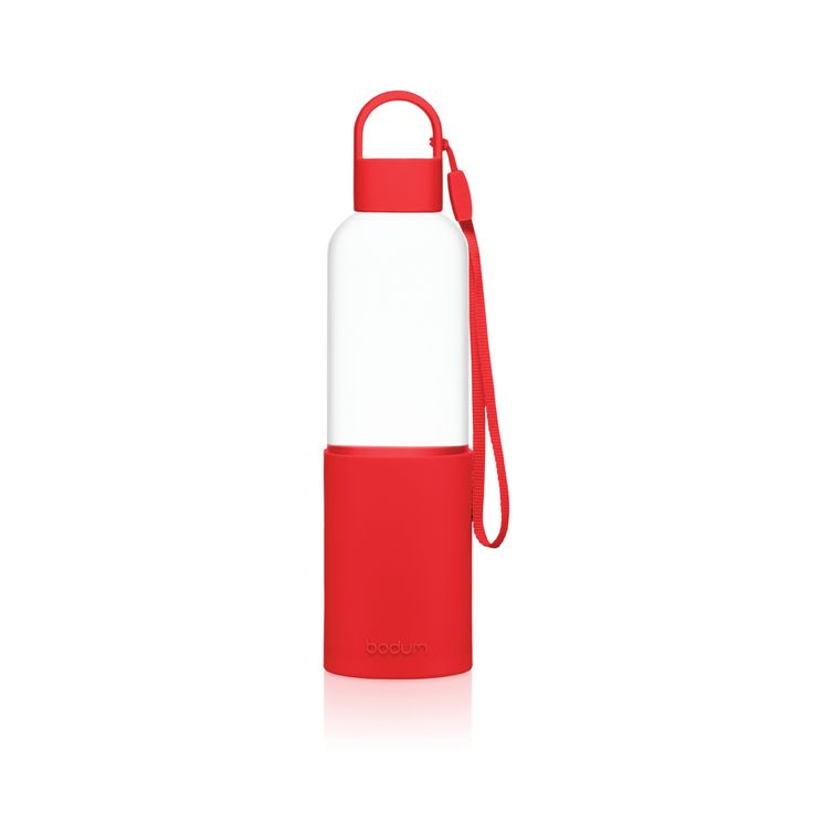 Gourde en verre borosilicate rouge 500ml - Bodum